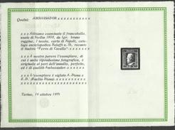 ANTICHI STATI SICILIA 1859 GRANA 1 1gr BRUNO RUGGINE USATO USED OBLITERE' - Sicilia