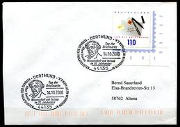 """Germany 2000 Sonderbeleg""""Tag Der Briefmarke M.Mi.Nr.2148 U.SST""""Dortmund-Albert Einstein-Wissenschaft U.Technik""""1 Beleg"""