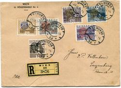 AUTRICHE LETTRE RECOMMANDEE AFFRANCHIE AVEC LES N°398A/98F (ROTARY VIENNE)  DEPART WIEN 20 VI 31 POUR LE LUXEMBOURG - 1918-1945 1. Republik