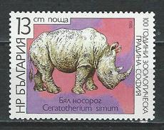 Bulgarien Mi 3658 ** MNH Ceratotherium Simum - Rhinozerosse