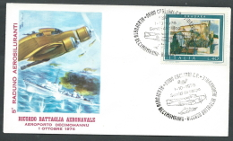 1976 ITALIA BUSTA SPECIALE VOLO SPECIALE DECIMOMANNU BATTAGLIA AERONAVALE - SV4 - F.D.C.