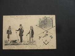 N2645 . CPA MAINE ET LOIRE COMPAGNONS DU DEVOIR ENTREPRENEURS A BEAUFORT EN VALLEE EDIFICATION MAIRIE 1860