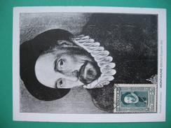 Carte-Maximum    N°  587   Michel Eyquem De Montaigne  1943 - Cartoline Maximum