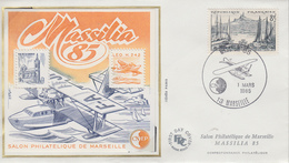 Enveloppe  FDC  Bloc  CNEP   Salon  MASSILIA    MARSEILLE   1985