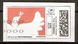 FRANCE   -  2017 .  Vignette D'affranchissement.   Oiseau