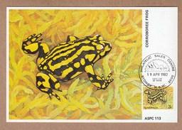 Australia Maximum Cards FDI 1982 Corroboree Frog
