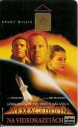 CARTES-1998-TCHECOSLOVAQUIE-PUCEGEM-FILM ARMAGEDDON-Bruce WILLIS-TBE