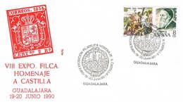 Spanien Brief Aus Guadalajara - Briefmarkenausstellung - 1991-00 Briefe U. Dokumente