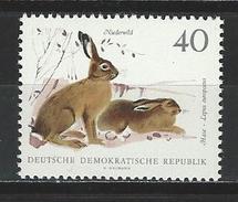 DDR Mi 1362 ** MNH Lepus Europaeus