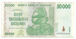 Zimbabwe 50000 Dollars 2008 - Zimbabwe