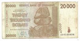 Zimbabwe 20000 Dollars 2008 - Zimbabwe