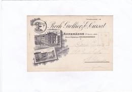 Roch  Grollier  &  E.  Cursat   ANNEMASSE  (carte De Visite Publicitaire) - Cartes De Visite