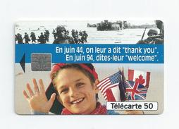 PHONE CARD Of France Telecom 50th Anniversary Of Normandy's Allied Landing In Normandy In World War II Guerre Telecarte - Cultura