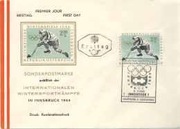 718  Jeux Olympiques 1964, Hockey Sur Glace: Oblit. Temp. D'Autriche - Winter Olympics Innsbruck, Austria. Ice Hockey