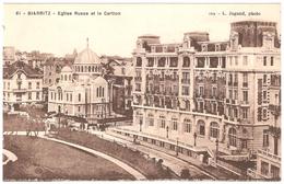 Biarritz - Eglise Russe Et Le Carlton - Photo L. Jugand - état Neuf - Biarritz