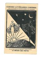 """Cp Avec Autographe. Publicité Pour Cahiers Littéraires CORYMBE, Illust.Bois De Noel SANTON, """" Poèmes Dansés"""" - Autres Collections"""
