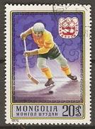 MONGOLIE     -    HOCKEY SUR GLACE   -   Oblitéré .