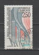 """FRANCE / 1991 / Y&T N° 2704 : """"Touristique (Pont De Cheviré/Nantes) - Choisi - Cachet Rond - France"""