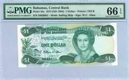 BAHAMAS 1  DOLLAR  1974 (ND 1984)PMG 66 EPQ - Bahamas