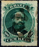 Stamp Brazil 1876 100r Lot#137 - Gebraucht