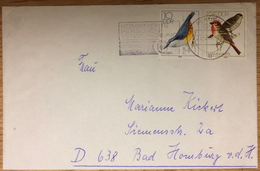 DDR, Plauen --> Bad Homburg 27.2.79, Kombinierte Personen-Versicherung, Vögel, Kleiber, Karmingimpel - Brieven En Documenten