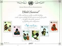 UNO VN ONU 1985 - Souvenir Erinnerungskarte Commemorative Card - Child Surival - New York -  VN Hauptquartier