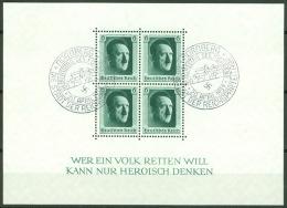 Deutsches Reich Block 7 O Sonderstempel