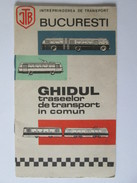 Romania-Bucharest Bus Routes Guide About 60s - Europe