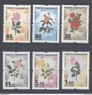 TURKEY, 2016, MNH, OFFICIALS, FLOWERS, ROSES, 6v