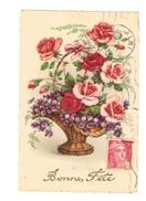 Panier De Roses Et De Violettes - (42) - Fleurs