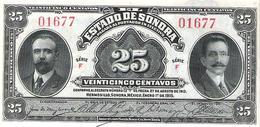 Mexico - Pick S1069 - 25 Centavos 1915 - AUnc - ESTADO DE SONORA - Mexique