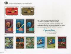 UNO VN ONU 1983 - Souvenir Erinnerungskarte Commemorative Card - Trade And Development - New York -  VN Hauptquartier