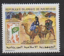 Mauritanie Mauretanien Mauritania 2000 Mi. 1050 40 Ans Independance Timbre Sur Timbre Camel Chameau Kamel Fauna Faune **