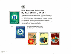 UNO VN ONU 1982 - Souvenir Erinnerungskarte Commemorative Card - Human Environment - Other