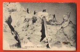 IAL-21  Pont De Glace Mont-Blanc. Glacier, Alpinistes. ANIME. Tampon Grand Hotel. - Chamonix-Mont-Blanc