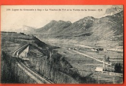IAL-22  Viaduc De Vif Vallée De La Grasse, Ligne Chemin De Fer Grenoble Gap. Non Circulé - Vif