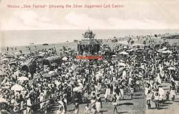CPA HINDOO VALE FESTIVAL SHOWING THE SILVER JUGGERNAUT CAR CEYLON - Sri Lanka (Ceylon)