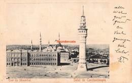CPA TOUR DU SERASKERAT SALUT DE CONSTANTINOPLE - Turquie