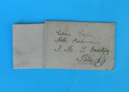1915. Letter Addressed On Warship SMS RADETZKY From Selca Brac * K.u.K. Kriegsmarine Austria-Hungary Navy Osterreich - Briefe U. Dokumente
