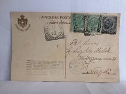 FI,COLLEZIONE,STORIA POSTALE,CARTOLINA POSTALE,POST CARD,VIAGGIATE,ITALIA,ITALY,CAMPANIA,NAPOLI,1922,CAMERA DEI DEPUTATI - Napoli (Napels)