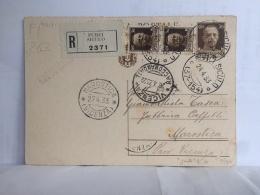 FI,COLLEZIONE,STORIA POSTALE,LETTERA POSTALE,POST LETTER,REGNO,VIAGGIATE,ITALIA,ITALY,VENETO,VICENZA,1933 - Vicenza