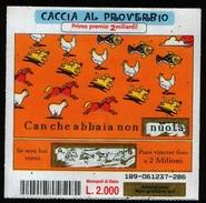 GRATTA E VINCI - 2000 - Caccia Al Proverbio - Usato - Biglietti Della Lotteria