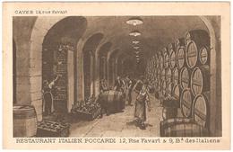 Restaurant Italien Poccardi 12, Rue Favart & 9 Bd Des Italiens - Caves - Bar, Alberghi, Ristoranti