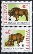 PIA - LITUANIA  - 1996  : Protezione Della Fauna - Bisonti - (Yv  529-32) - Lithuania