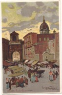 NAPOLI  Porta Capuana - Illustratore  - Unused TTBE (dos Simple) - Napoli