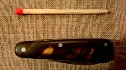 Ancien Couteau Multi Lames Napoléon III - Nécessaire De Voyage - Armes Blanches