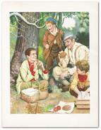 Vintage Kunstdruk 1960 - Illustratie ~ Vintage Art Print 1960 - Illustration - Gegraveerde Prenten