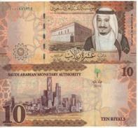 """SAUDI  ARABIA    New 10 Riyals   """"JUST  ISSUED""""    Pnew  2016 - Saoedi-Arabië"""