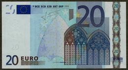 Autriche - N - 20 Euro - F003 A1 - N11037935838 - Trichet - Circulated - EURO