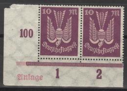 Deutsches Reich 2x335 Eckrandpaar Mit Anlage ** Postfrisch - Allemagne